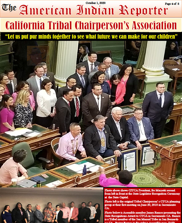 NEWSMAKERS IN INDIAN COUNTRY: CALIFORNIA TRIBAL CHAIRPERSON'S ASSOCIATION (CTCA) IN THE NEWS